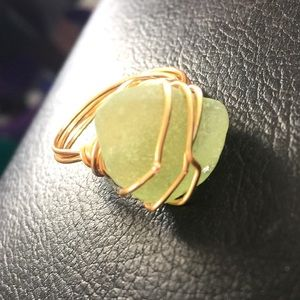 Genuine Seaglass Ring